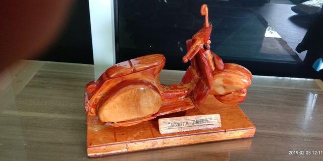 Miniatur vespa kayu #Bapau