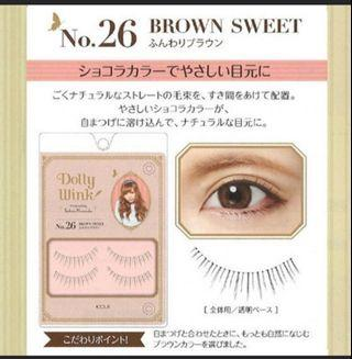 🚚 ☆ CHEAPEST IN CAROUSELL☆ Brand new authentic Dolly Wink Sweet Brown eyelashes