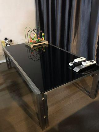 Coffee table tampered glass