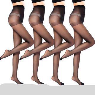 黑色透肉絲襪