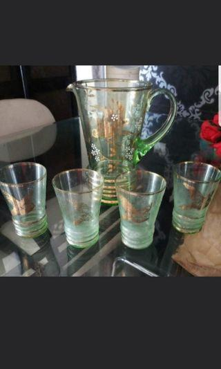 Glass and jug set for $48 Bought for $99