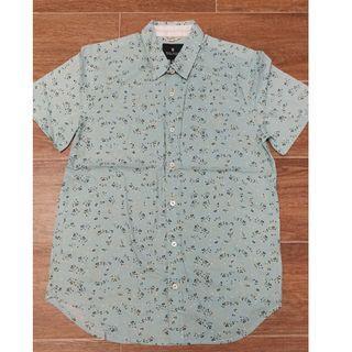 【全新】男裝灰色全棉印花短袖恤衫