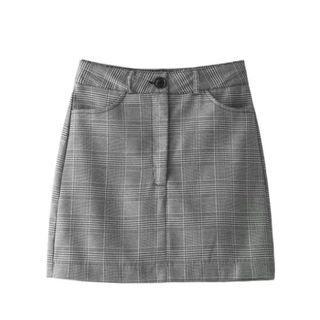 Ulzzang Plaid Gingham Skirt