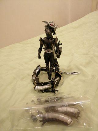 Kamen Rider Ryuga Figma and Drag Blacker Souchaku Henshin Series