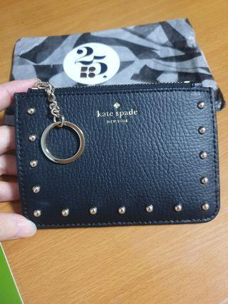Kate Spade Sanders Place Bitsy Black Coin Purse Card Holder Wallet
