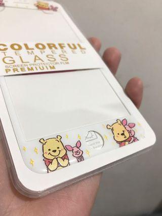 現貨✅小熊維尼 iPhone 7p/8p 玻璃mon貼 白底軟邊
