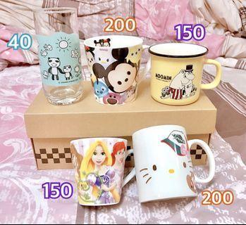 🚚 綜合馬克杯水杯(迪士尼/嚕嚕米/Hello Kitty/阿朗基)