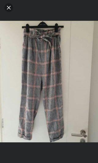 Bershka grid pants #BAPAU