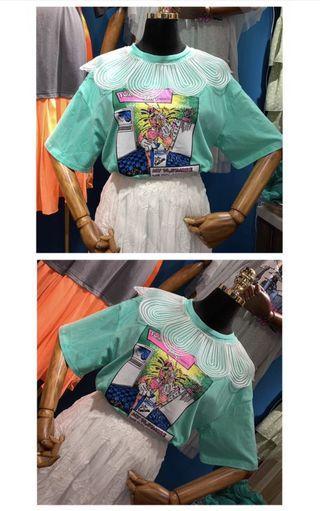 韓國T-shirt $168 One Size 胸圍 100cm 衣長 62 cm