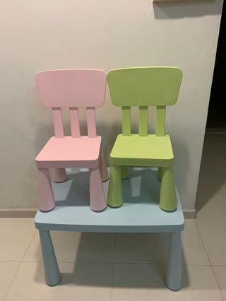 🚚 Ikea Children Chairs and table