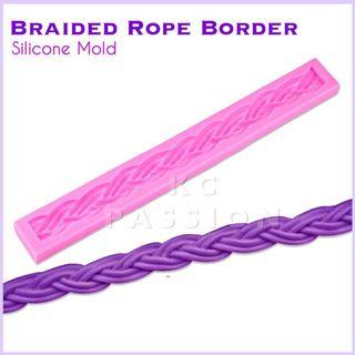 🎂 BRAIDED ROPE BORDER SILICONE MOLD