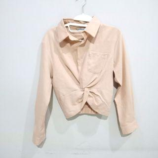 NUDE KNOTTED SHIRT