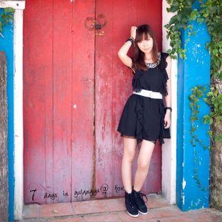 🚚 二手女生女款女士H&M夏季無袖水鑽紗裙洋裝連衣裙