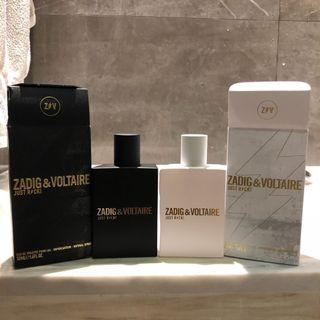 Zadig & Voltaire Perfumes (50ml each)