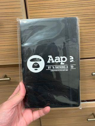 Limited edition Aape embroidered Black notebook