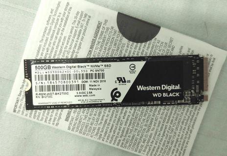 🚚 WD BLACK SSD  500GB NVMe M.2 PCIe 3.0x4