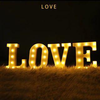 LOVE 燈 箱 求婚結婚用品