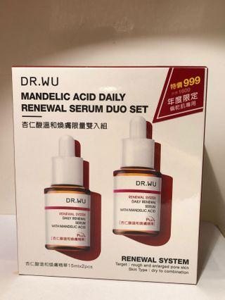 🚚 Dr.Wu杏仁酸溫和煥膚限量雙入組合