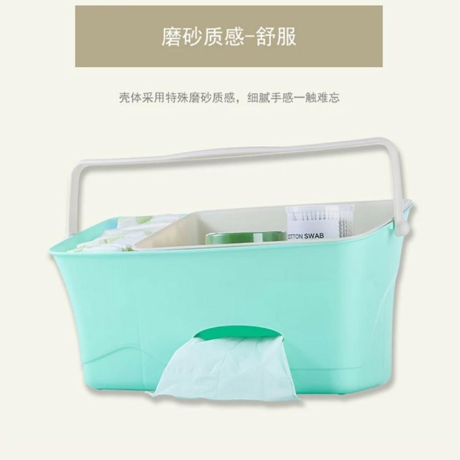 嬰兒床邊整理箱置物架