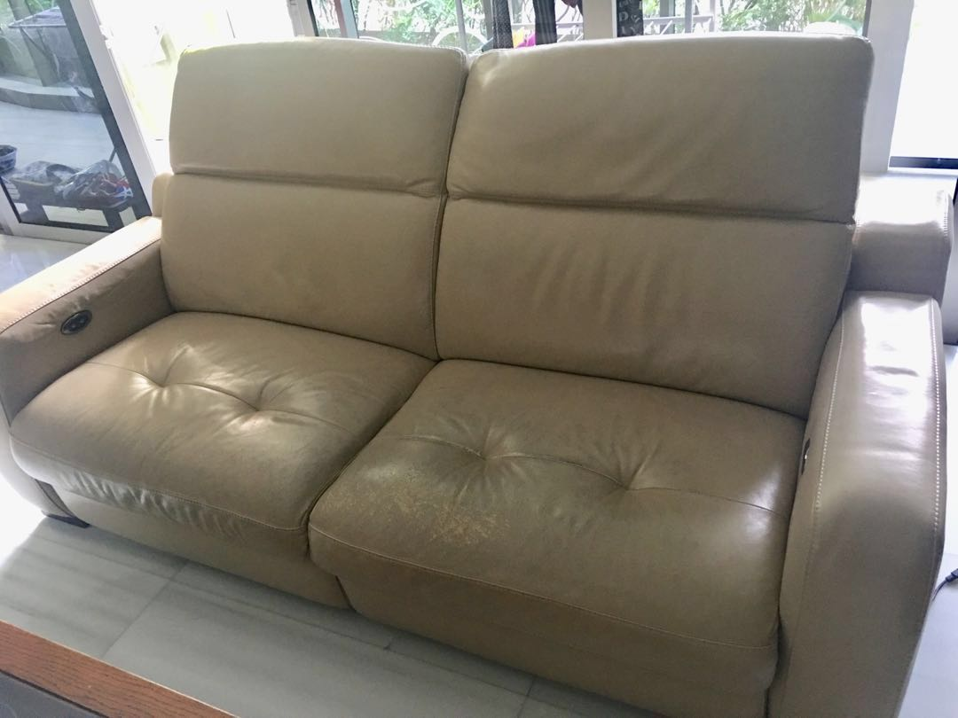 Awesome Further Reduced Genuine Leather Reclining 2 Seater Sofa Pdpeps Interior Chair Design Pdpepsorg