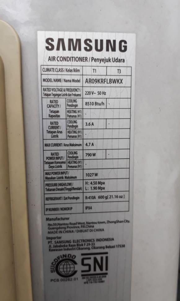 AC SAMSUNG AR09KRFLAWKN