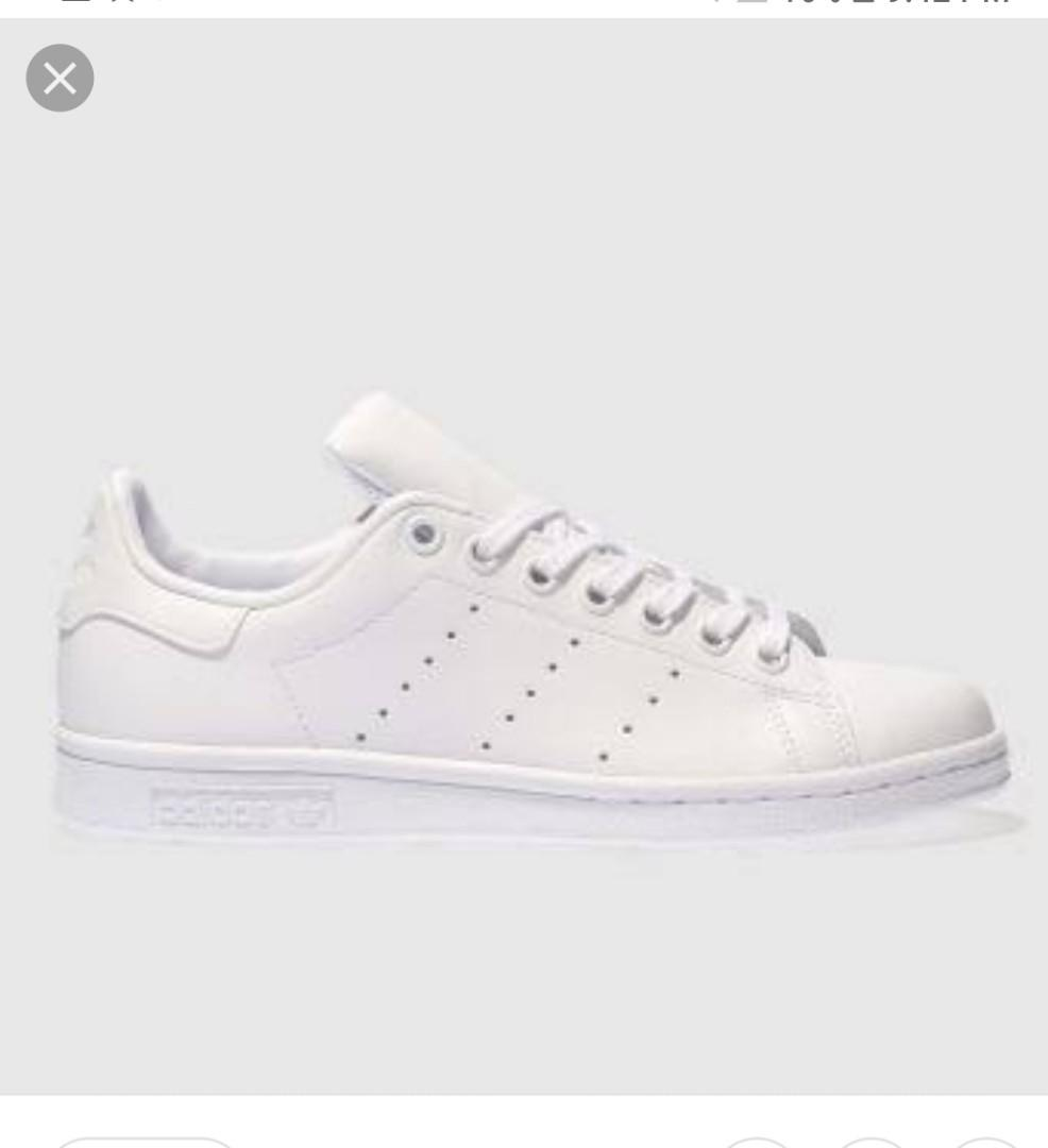 sports shoes 3cc1c 72bbc Adidas Stan Smith all white rubber shoes US 9 on Carousell