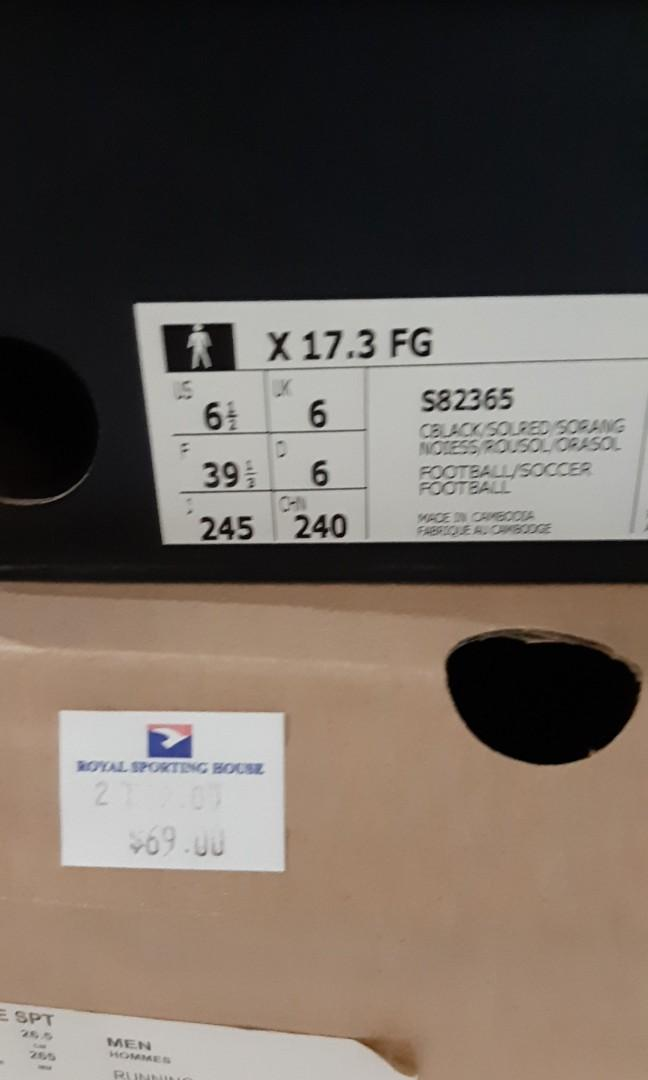Adidas X 17.3 Soccer boots