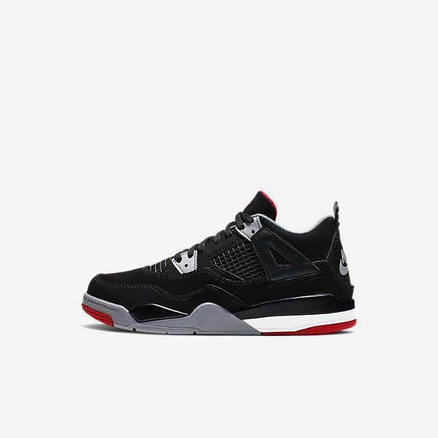 the latest 19636 18ee1 Air Jordan 4 Retro Bred Younger Kids' Shoe Size 1Y / 20CM ...