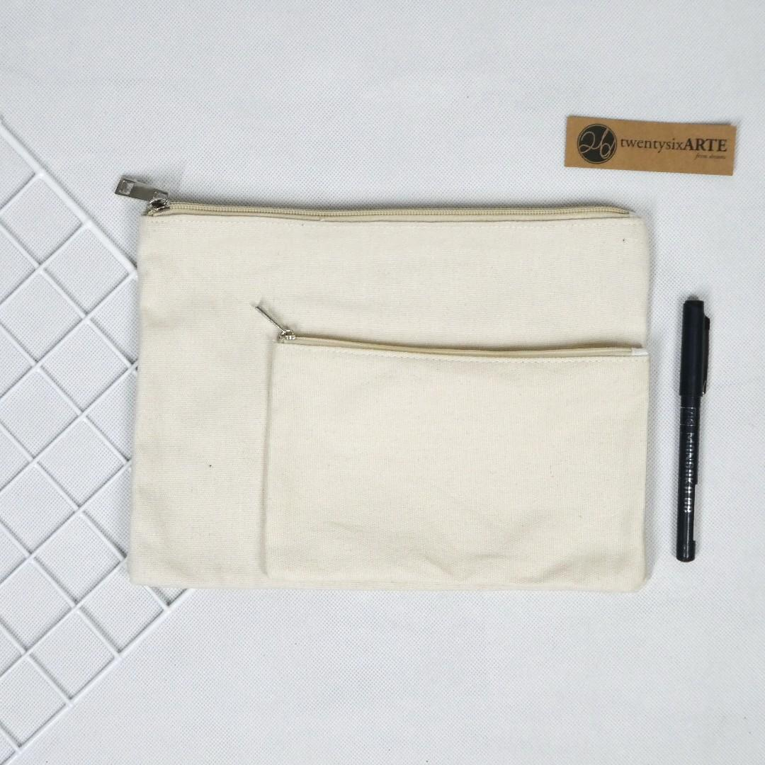 ARTE Classic Canvas Pouch Series | Original/Beige