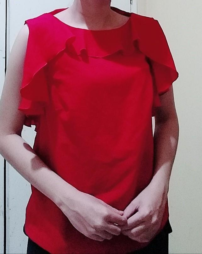 Blouse red DAWN