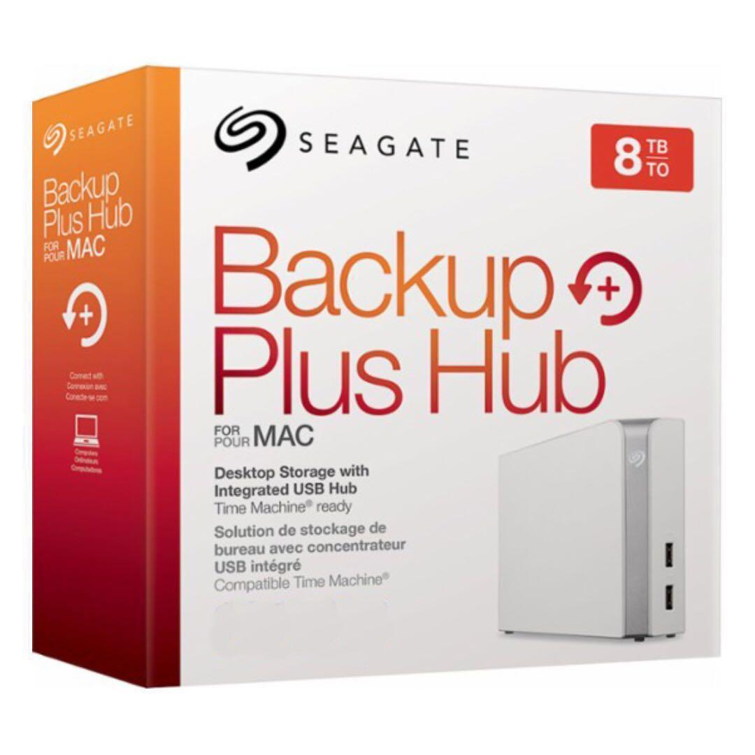 [BNIB] Seagate Backup Plus Hub for Mac 8TB External Desktop Hard Drive (STEM8000400)