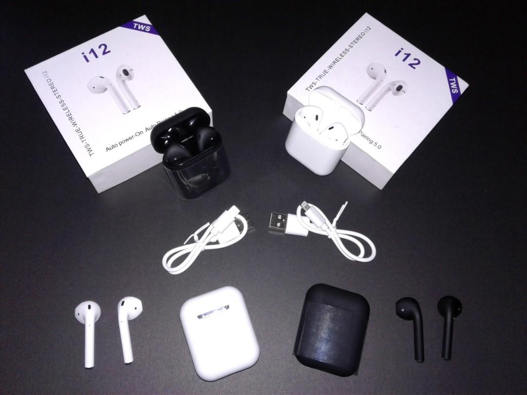 Brand New i12 Tws V5.0 Wireless Earbuds Mini Earphones