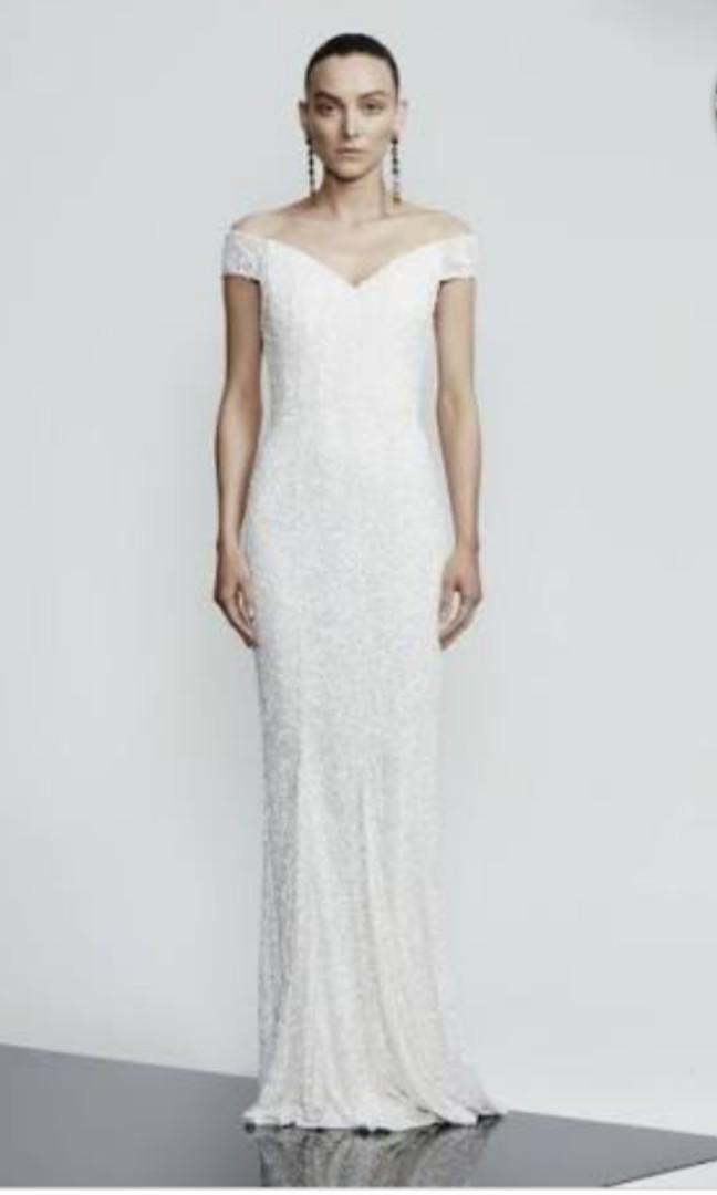 Brand New Rachel Gilbert Essi Wedding Gown - Ivory