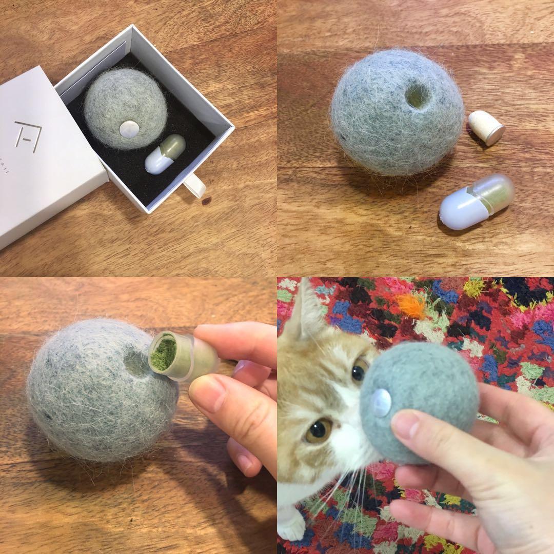 貓玩具-貓薄荷羊毛波波球//Cat toy - Wool ball with catnip