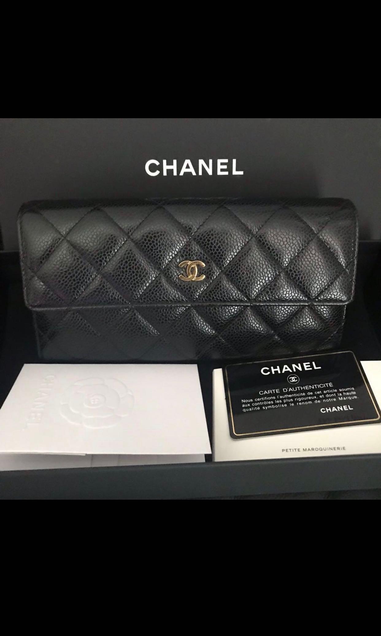 b0f335391d2033 Chanel Caviar Long Wallet, Luxury, Bags & Wallets, Wallets on Carousell