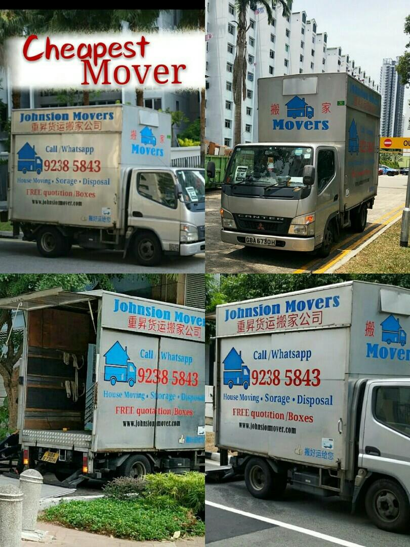 Cheapest mover service whatsapp 92385843 JohnsionMover.