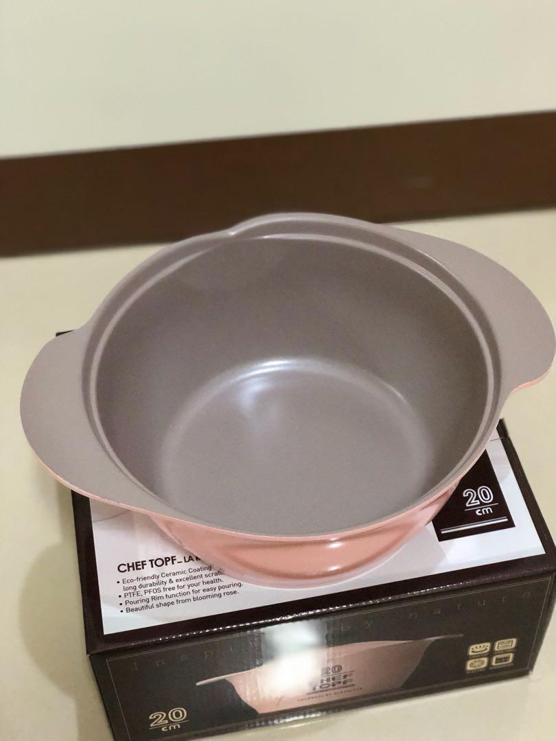 [現貨出清]CHEF TOPF LA ROSE 20cm 湯鍋 不沾湯鍋(粉)