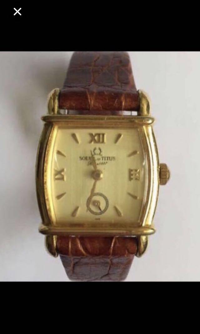 CLEARANCE SALES {Collectibles Item - Vintage Dress Watch} Authentic 天長地久 Vintage SOLVIL TITUS Unisex Quartz Wrist Watch Ref.06-0298