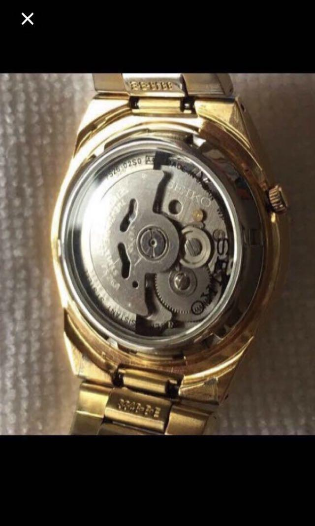 {Collectibles Item - Vintage Dress Watch} Superb Rare Vintage Authentic Pre-owned SEIKO Brand Automatic Stainless Steel Transparent Case Number 8848•B•E Men's Dress Watch C/W Days In English Or Javanese
