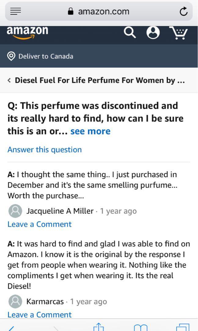✨Diesel fuel for life perfume ✨