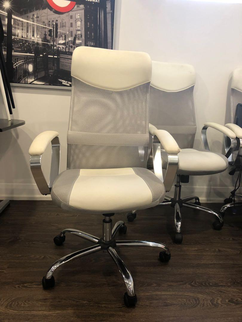 EQ3 white office chairs 3 can be sold separately