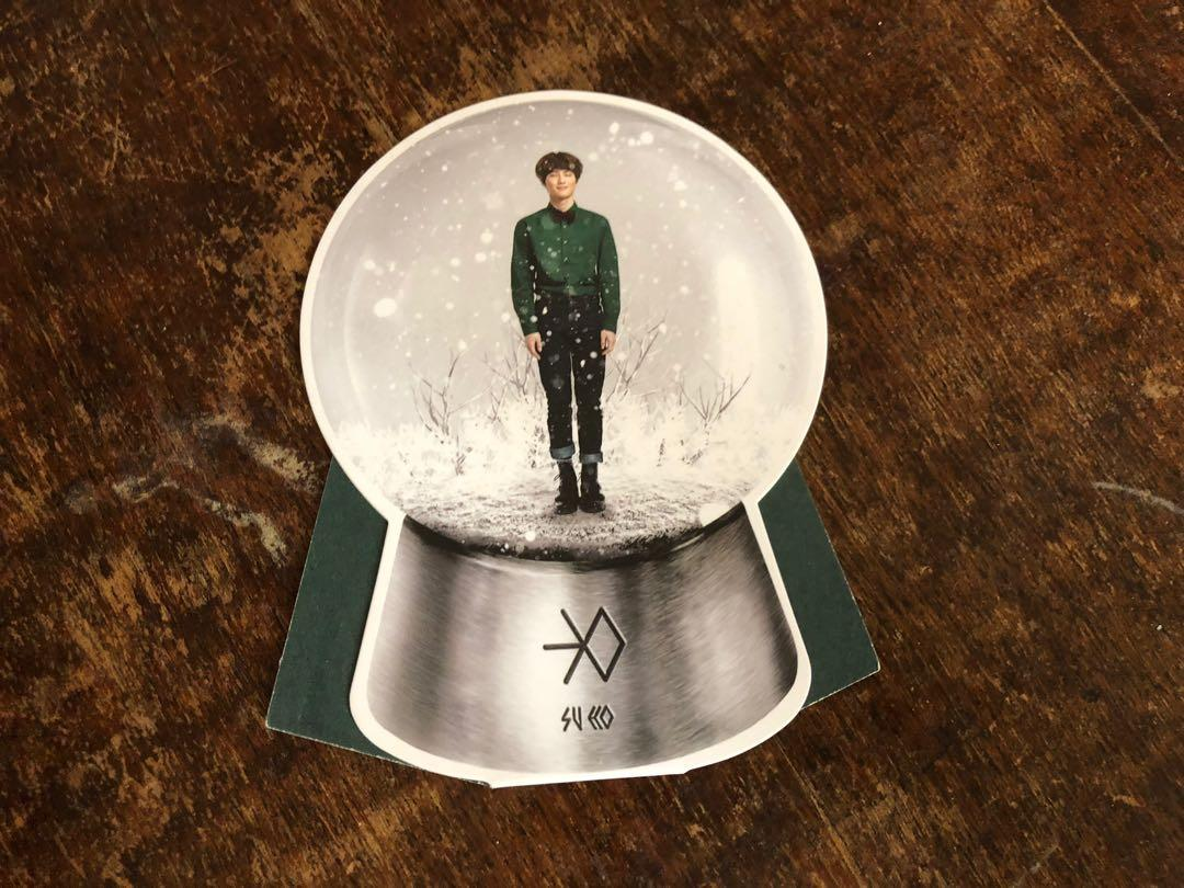 EXO SUHO MIRACLES IN DECEMBER SNOW GLOBE PHOTOCARD