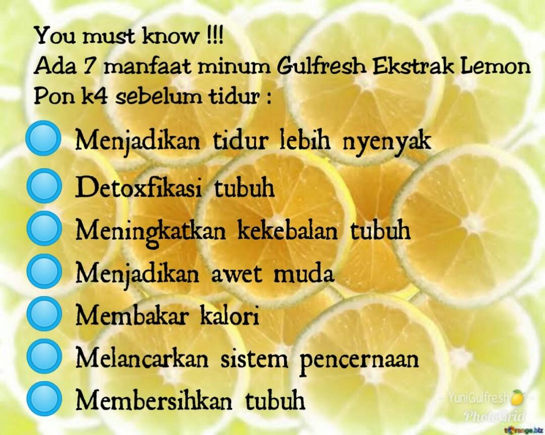 Extract 100% Lemon for Diet and Detox
