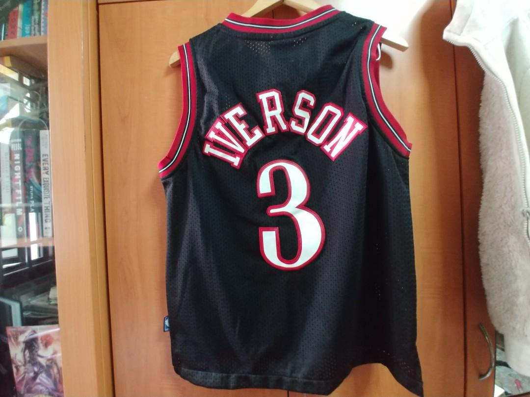 the best attitude ef537 6a44f FREE SHIPPING Vintage Allen Iverson #3 Sixers Adidas NBA ...