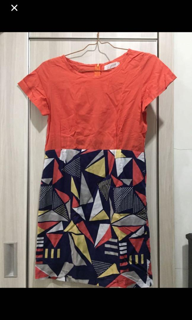 Gaudi Mididress Orange #BAPAU
