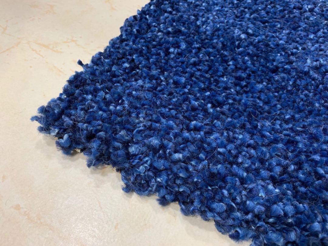 IKEA Alhede carpet rug, blue, high pile