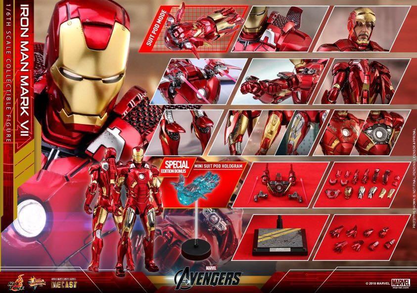 Iron Man Mark 7 VII Hot toys Marvel Avengers