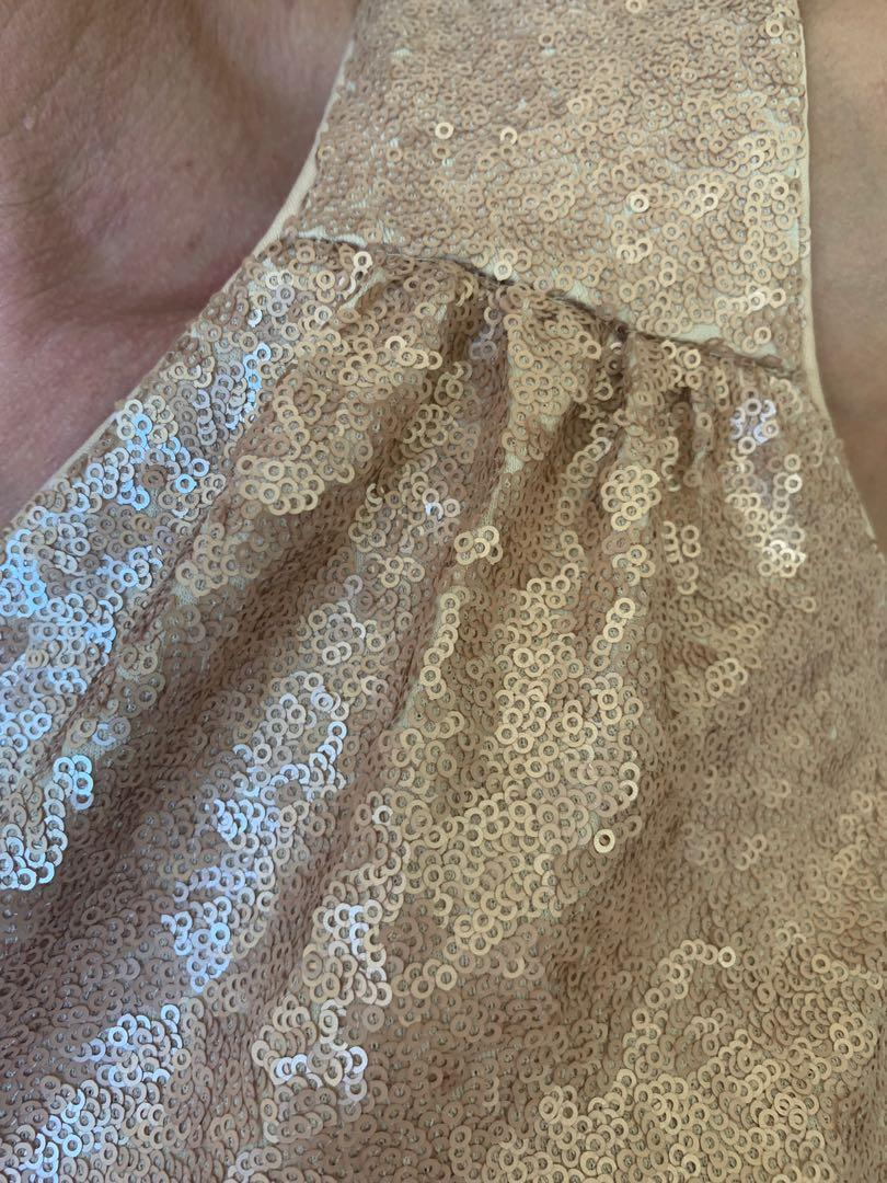 Laundry By Shelly Segal Gold Sequin Cocktail Dress