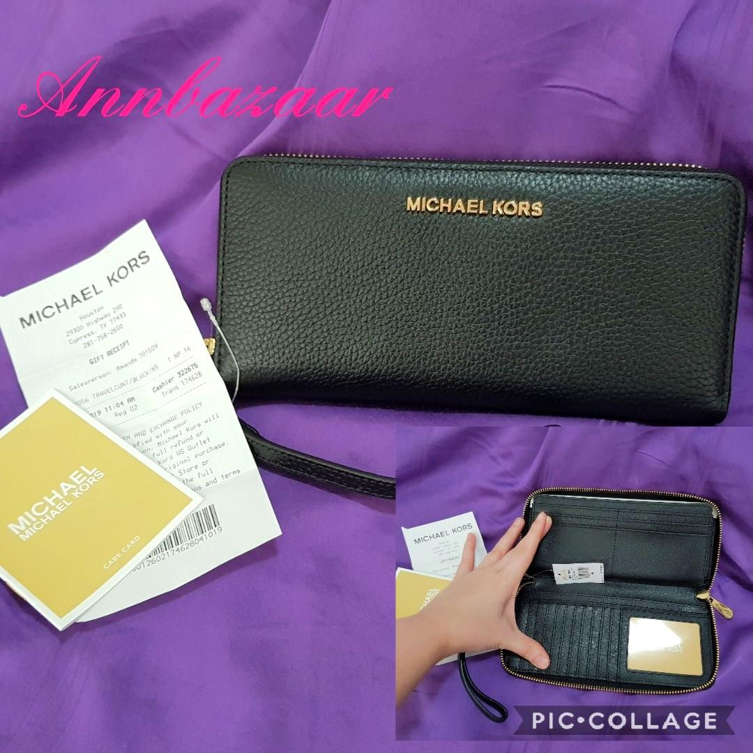 MOTHER'S DAY - 165 ONLY! Michael Kors Jet Set Travel Continental Long Leather Wallet (INSTOCK SOLD)
