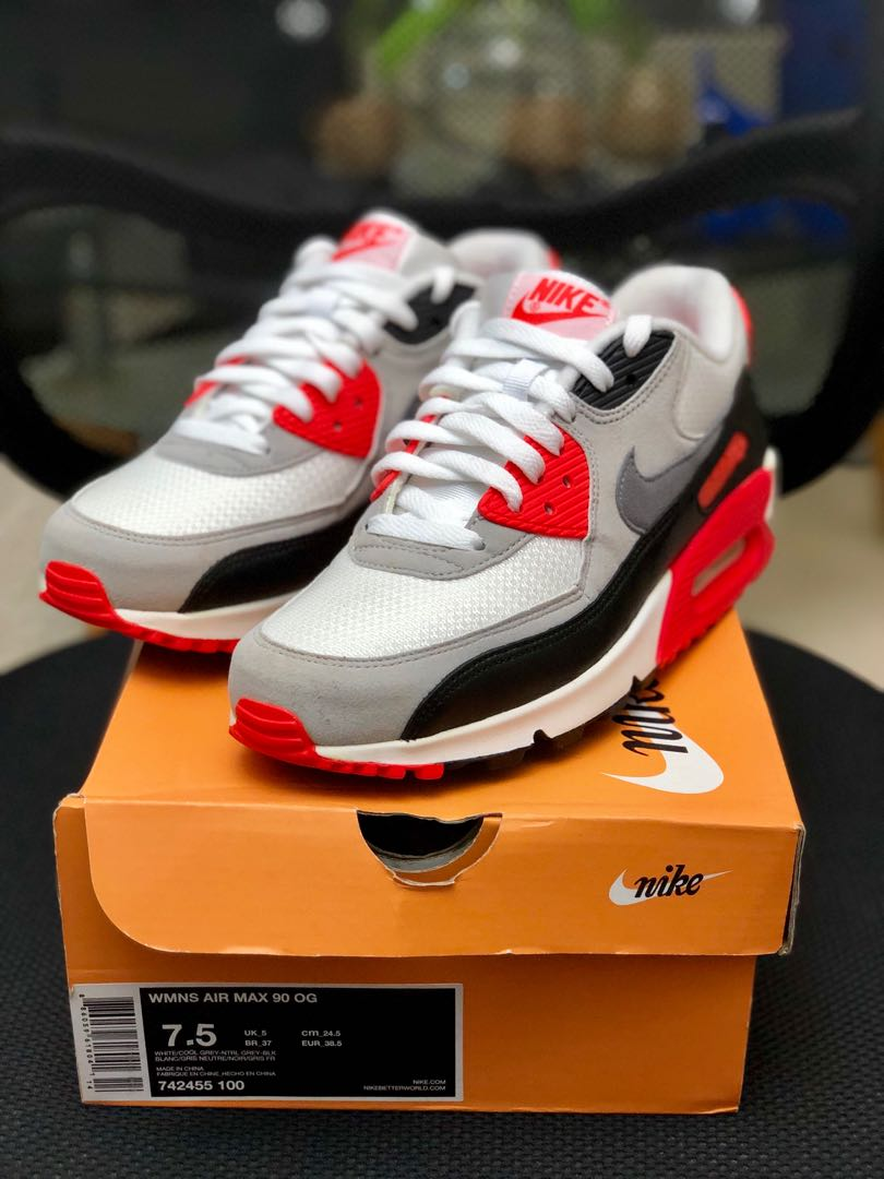 NIKE AIR MAX 90 INFRARED VINTAGE OG SIZE 9 AND 10
